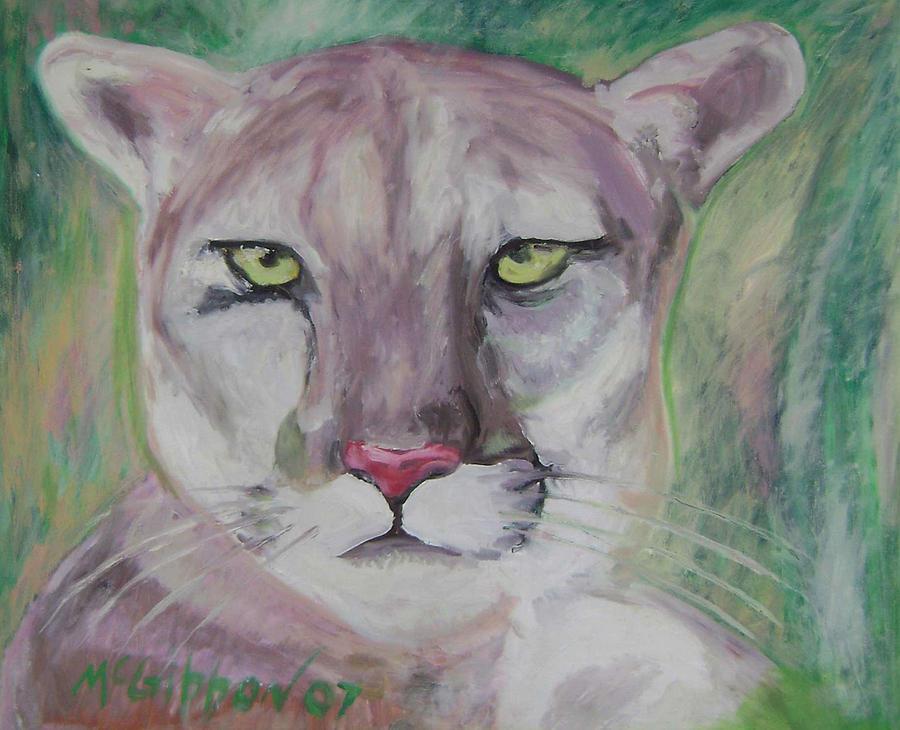 Cougar Painting - Cougar by Dan McGibbon