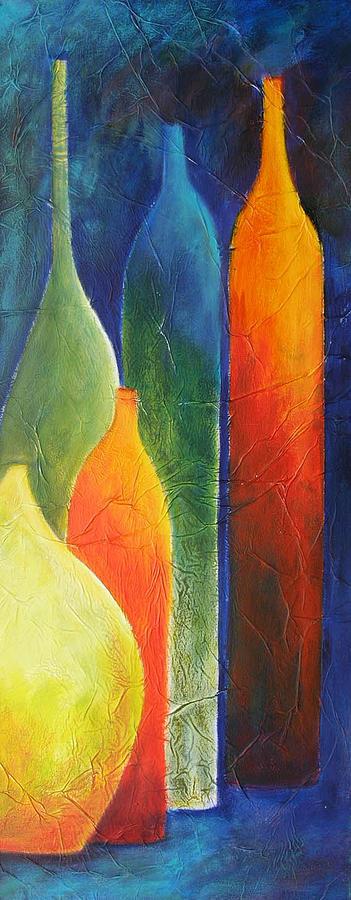 Bottle Painting - Couleurs en folie by Lesuisse Viviane