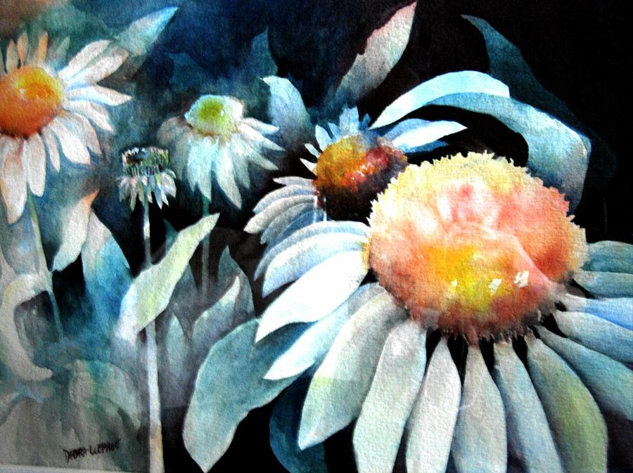 Flowers Painting - Counting Coneflowers by Debra LePage
