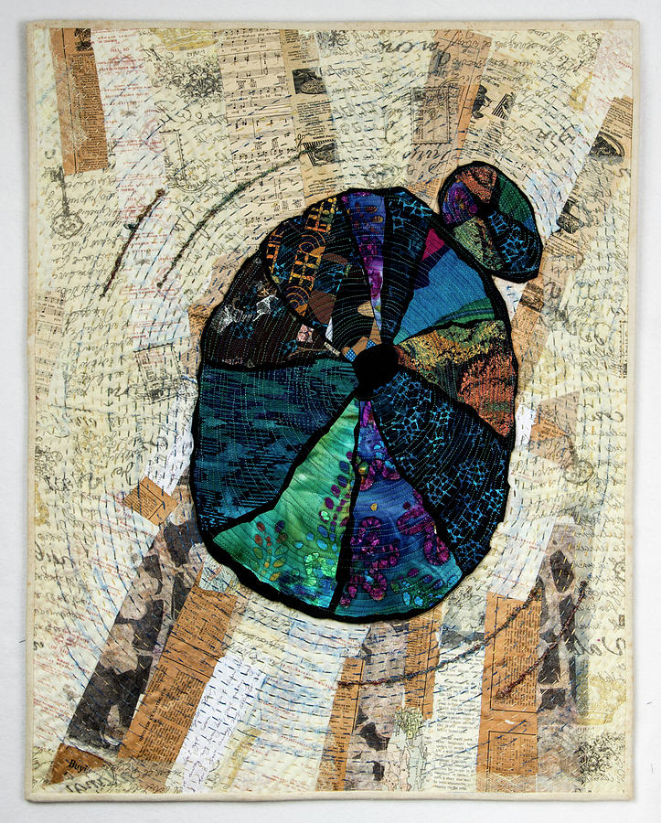 Art Quilt Tapestry - Textile - Counting The Years by Martha Ressler