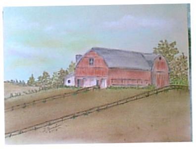 Country Barn Painting by Doris Burnham