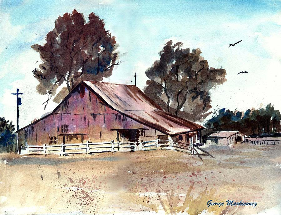 Barn Print - Country Barn by George Markiewicz