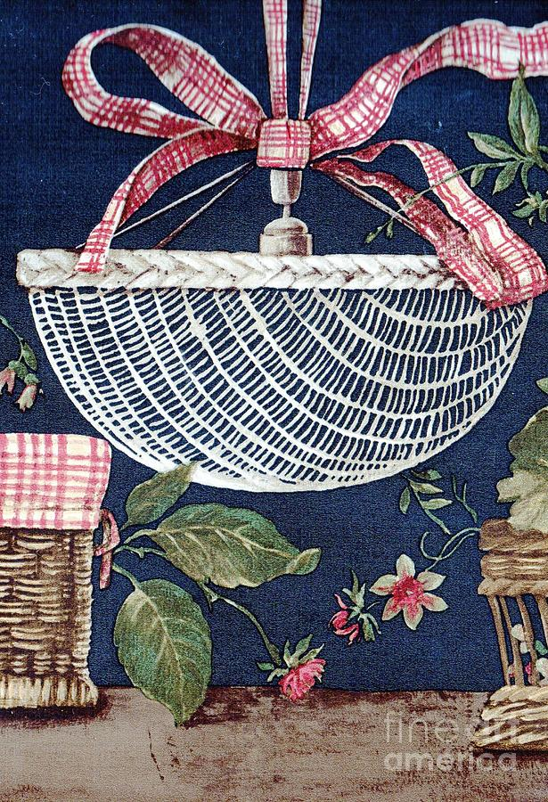 Blue Drawing - Country Basket by Writermore Arts