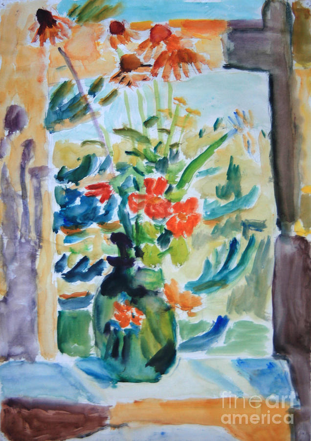 Still Life Painting - Country Bouquet by Andrey Semionov