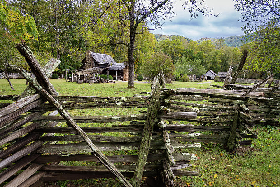 Country Cabin and Fence by Tim Stanley