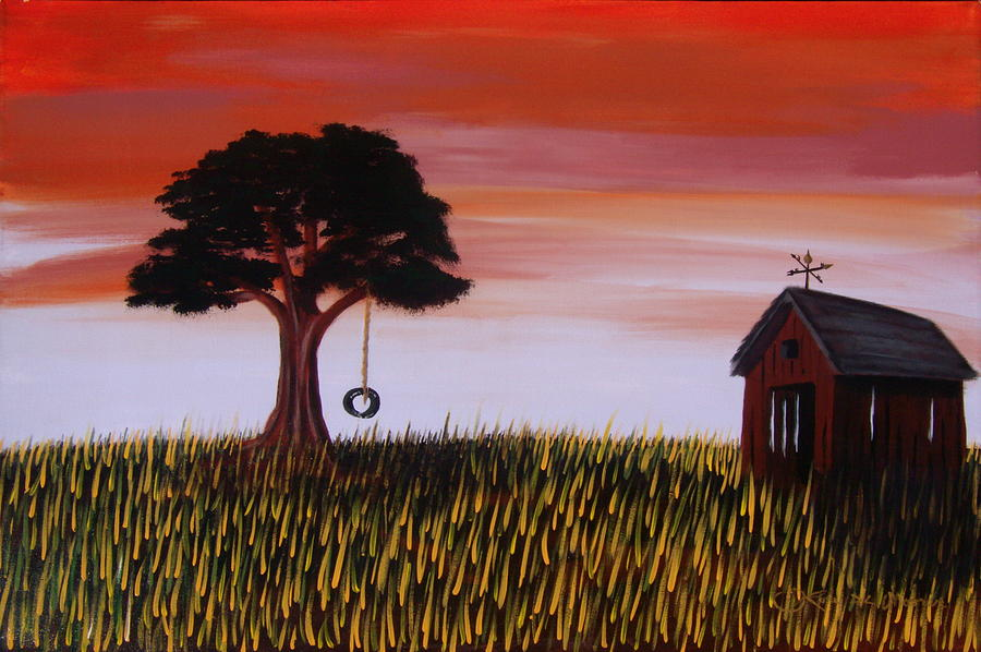 Landscape Painting - Country Calm by Rory Moorer