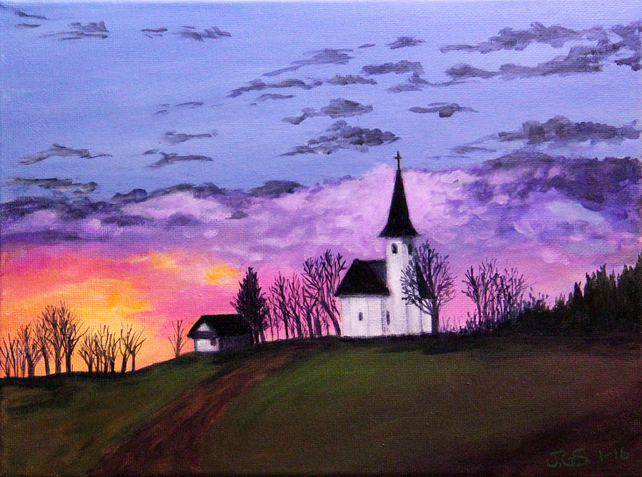Country Church by Janet Greer Sammons