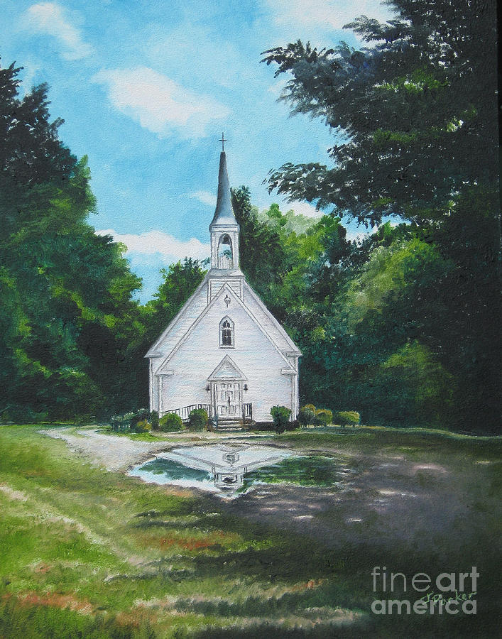 Country Church Painting By Parker Jim