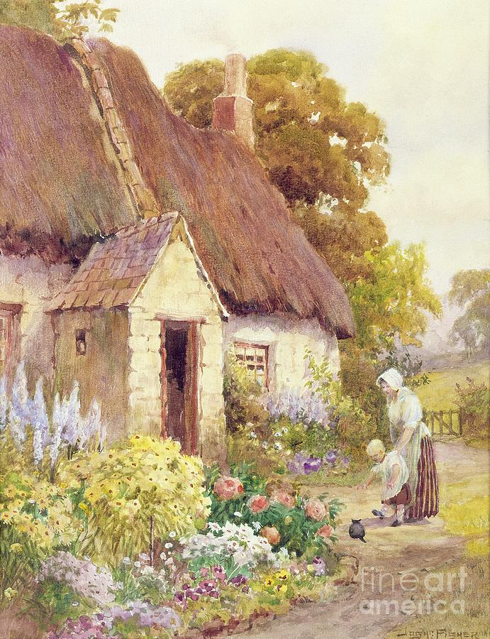 Country Cottage Painting By Joshua Fisher