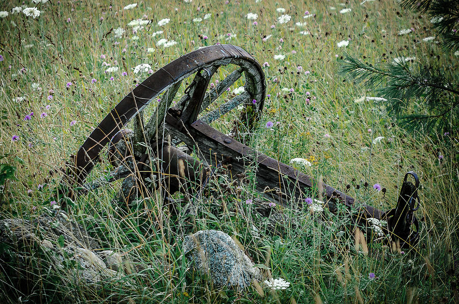 Wagon Wheel Photograph - Country Drive by Rick Bartrand