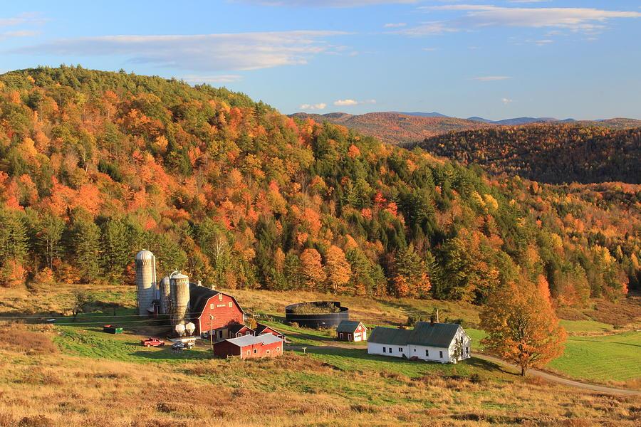 country farm in autumn barnet vermont photograph by john burk