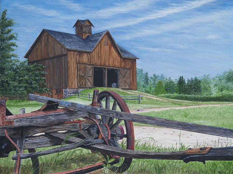 Country Farm Painting By Vicky Path