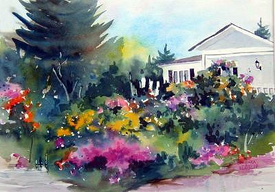 Country Garden Painting by Barbara Elmslie