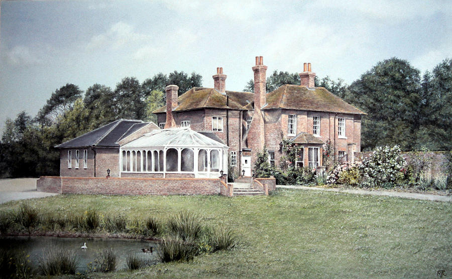 Painting Painting - Country House In England by Rosemary Colyer