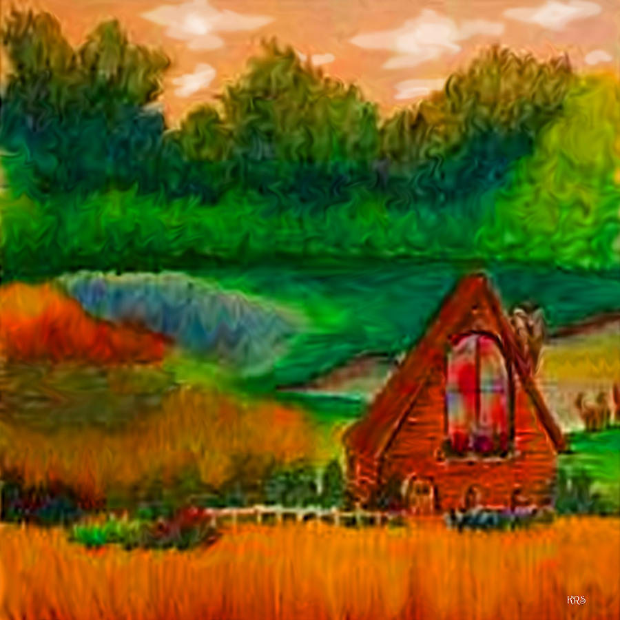 Landscape Drawing - Country by Karen R Scoville