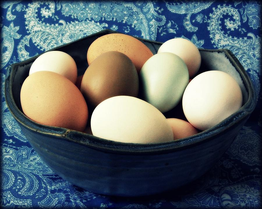 Eggs Photograph - Country Kitchen Blues by Amy Schauland