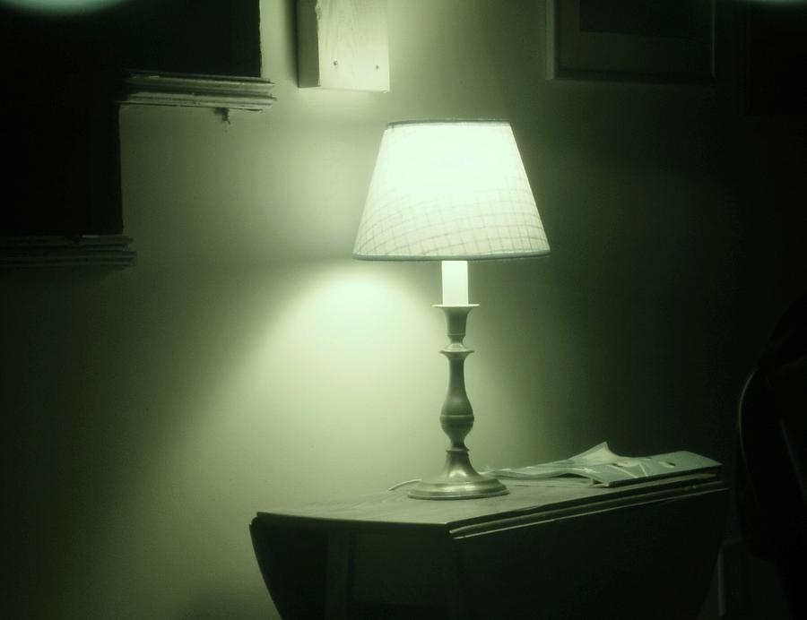 Sepia Photograph - Country Lamp by Florene Welebny