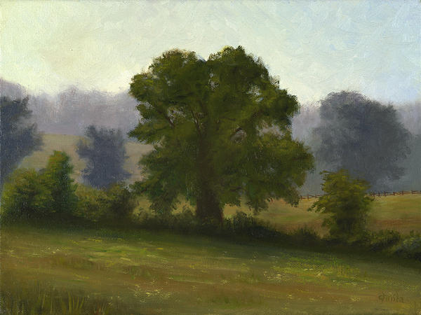 Landscape Painting - Country Meadow by Christa Eppinghaus