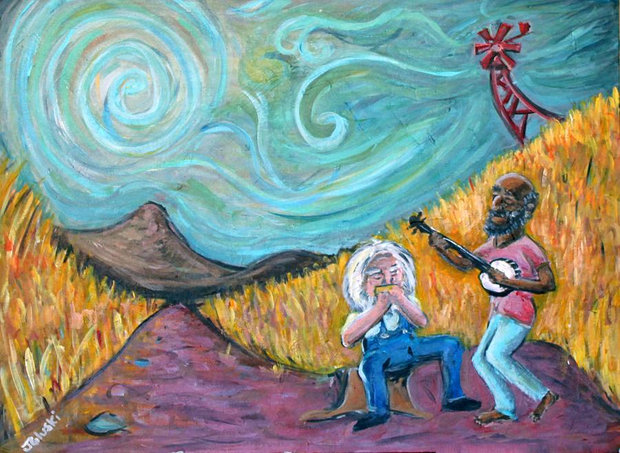 Country Music Painting by Jason Gluskin