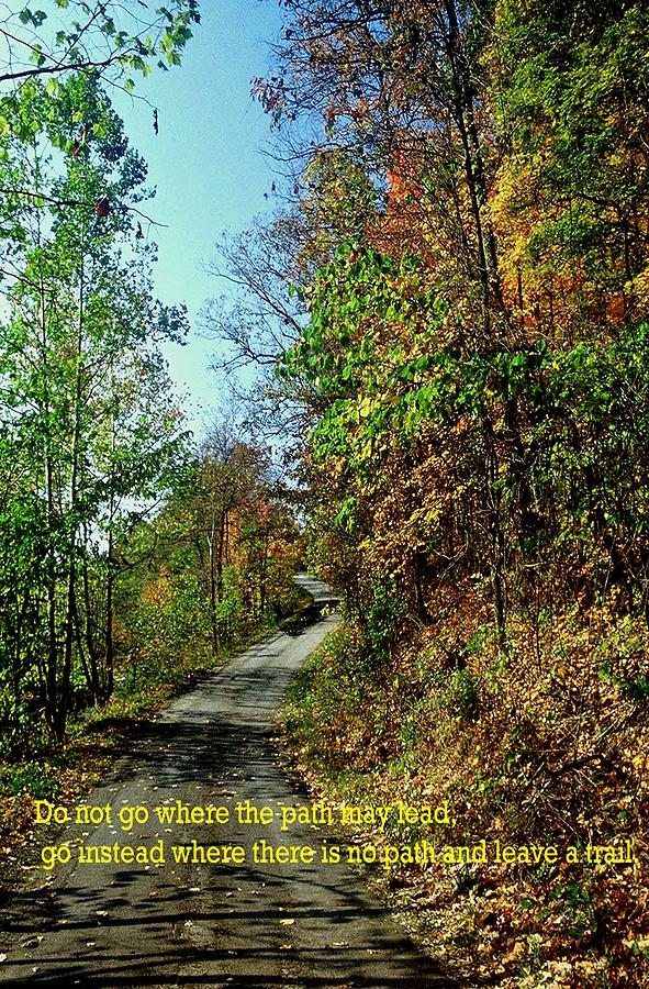 Country Road Photograph - Country Path by Gary Wonning