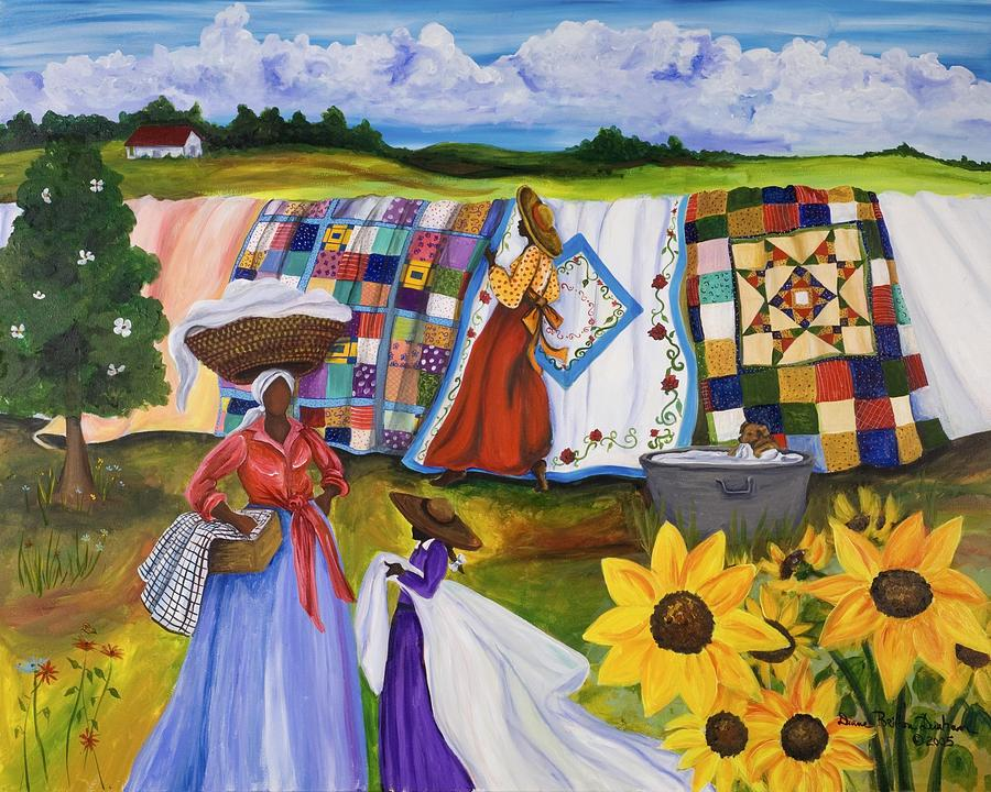 Country Quilts Painting by Diane Britton Dunham : quilt paintings - Adamdwight.com
