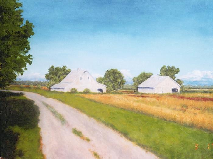 Landscape Painting - Country Road - Mark Twain Missouri by David Menendez