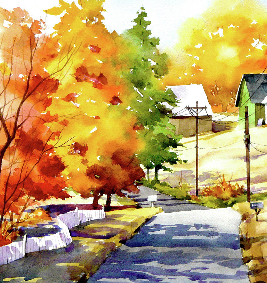 Country Road Painting by Art Scholz