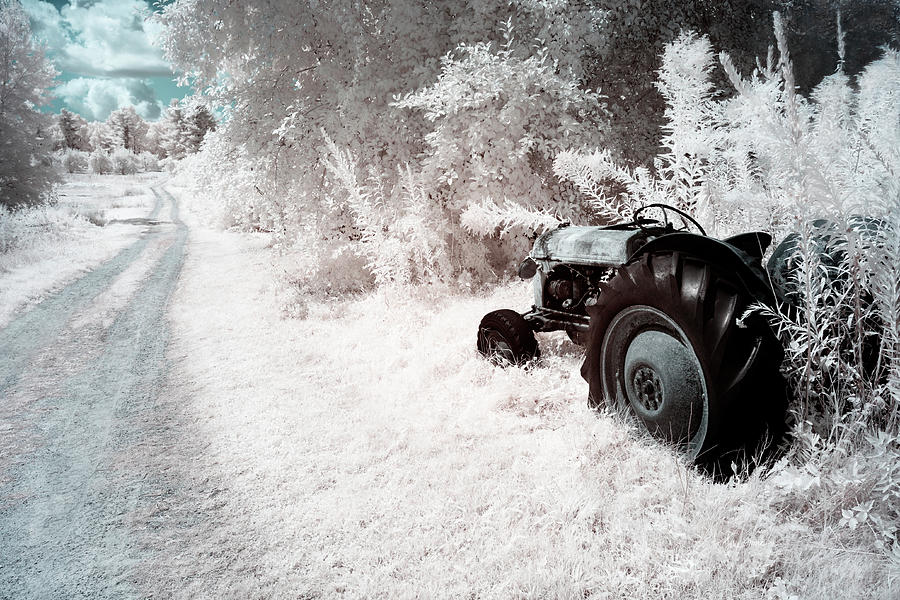 Tractor Photograph - Country Road Blue Sky by Luke Moore