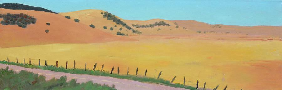 Dry Grass Painting - Country Road by Gary Coleman