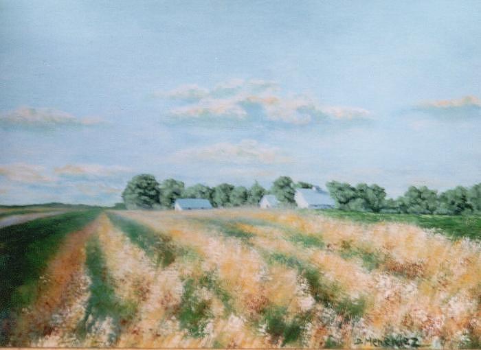 Landscape Painting - Country Road  Mark Twain Mo. by David Menendez