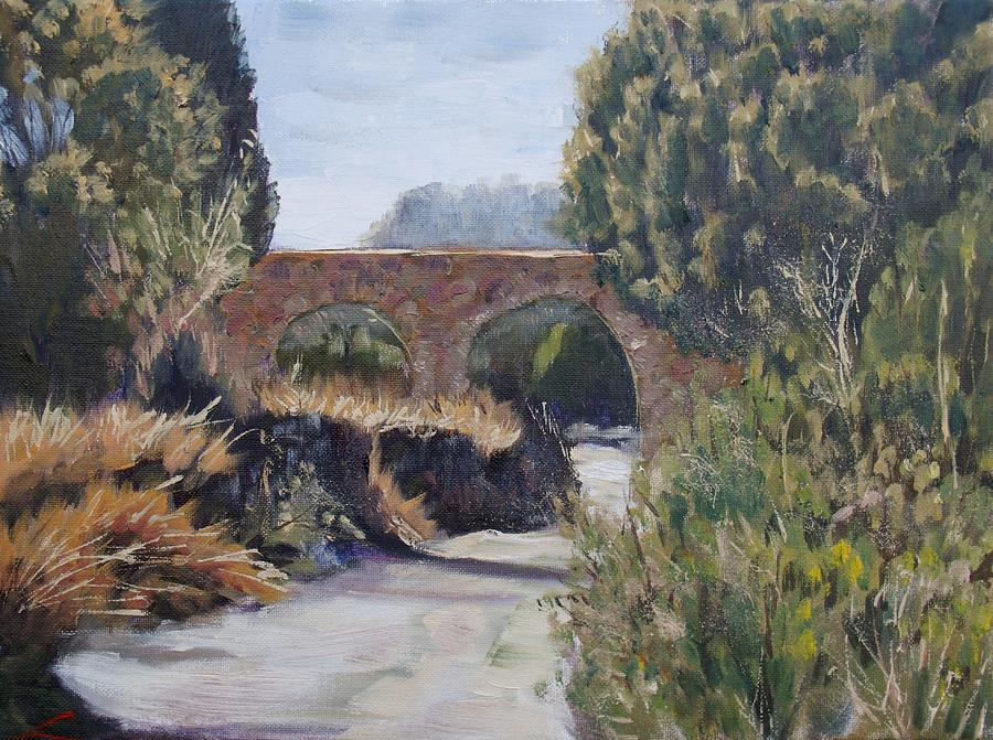 Country Road Near Pedraza Painting