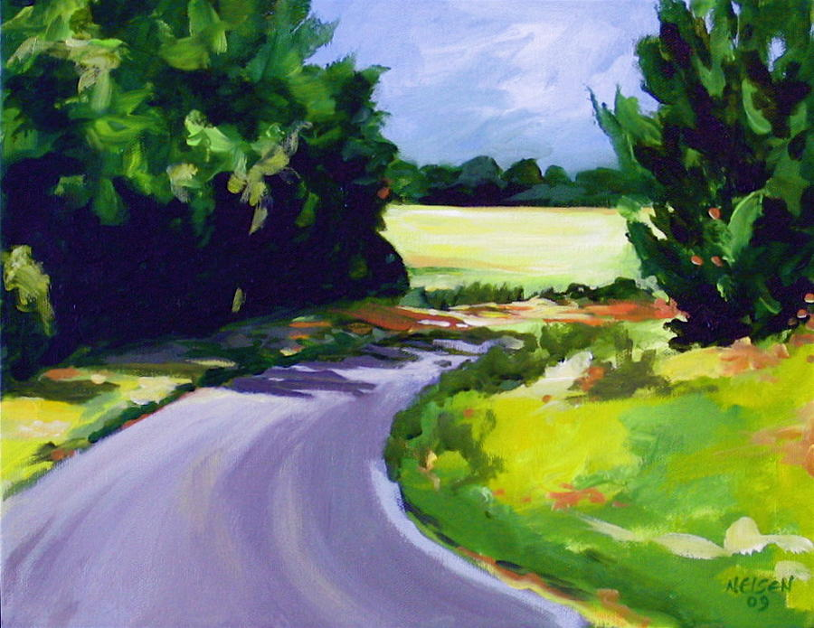 Road Painting - Country Road by Outre Art  Natalie Eisen