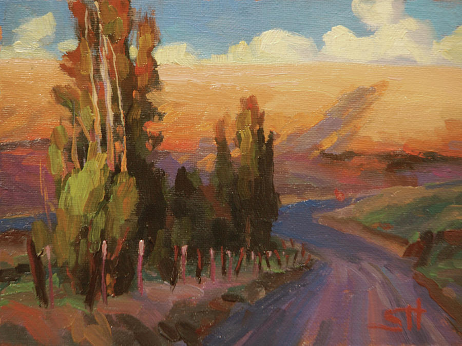 Country Painting - Country Road by Steve Henderson