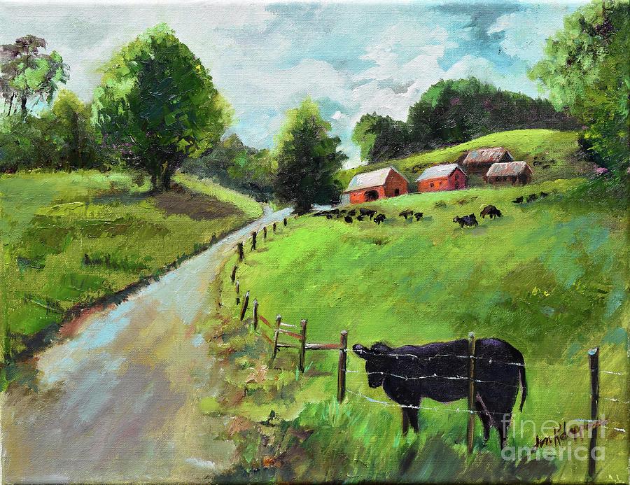 Country Roads of Georgia- Ellijay Rural Scene by Jan Dappen