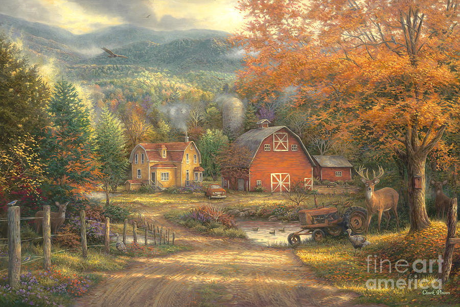 Country Roads Take Me Home Painting By Chuck Pinson