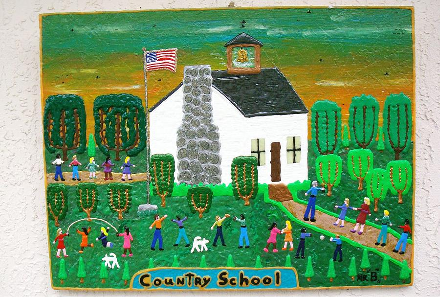Puff Painting - Country School by Jack Beverland