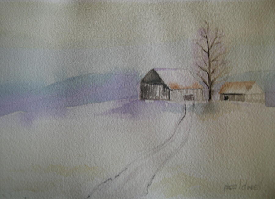 Country Snow Painting by Patricia Caldwell