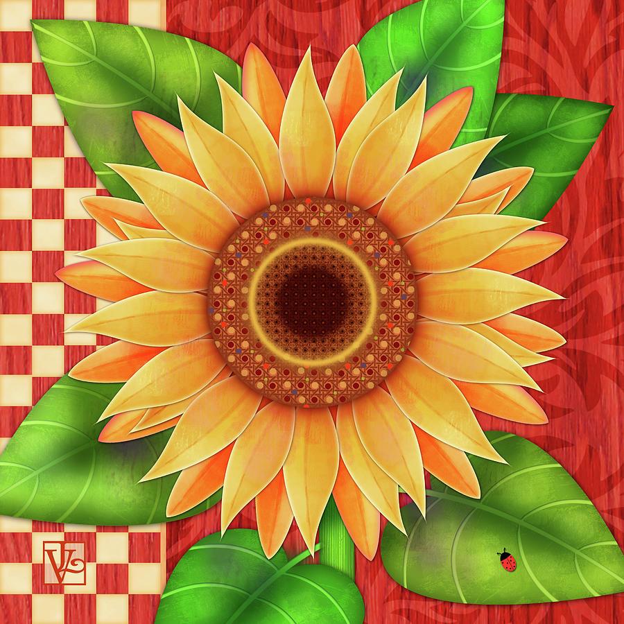 Country Sunflower by Valerie Drake Lesiak