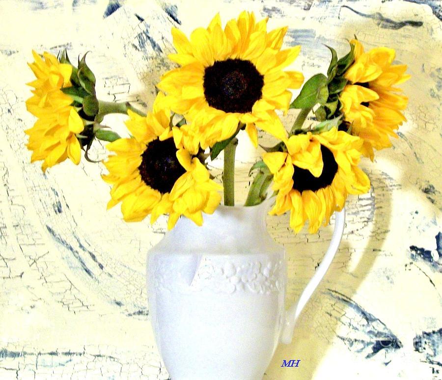 Photo Photograph - Country Sunflowers by Marsha Heiken