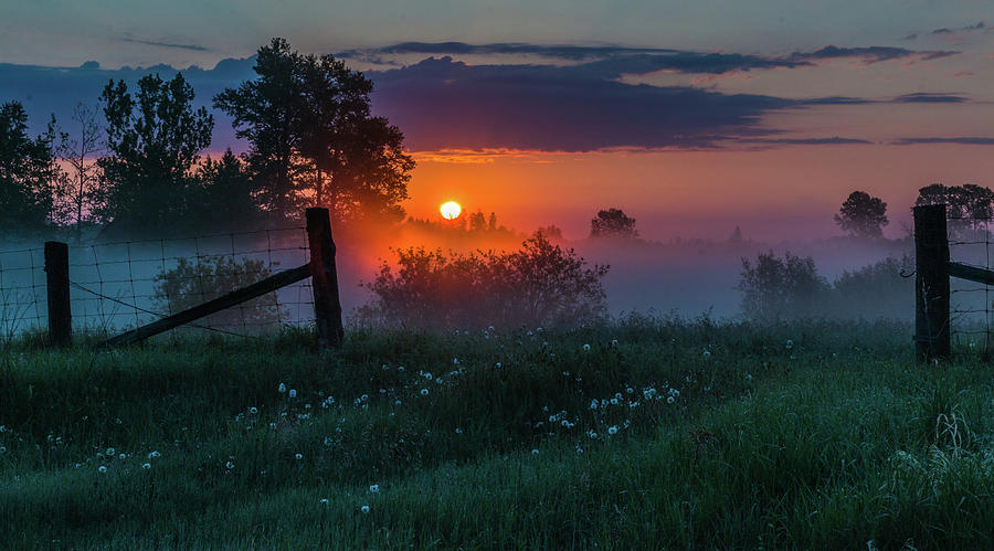 Sunrise Photograph - Country Sunrise by Linda Ryma