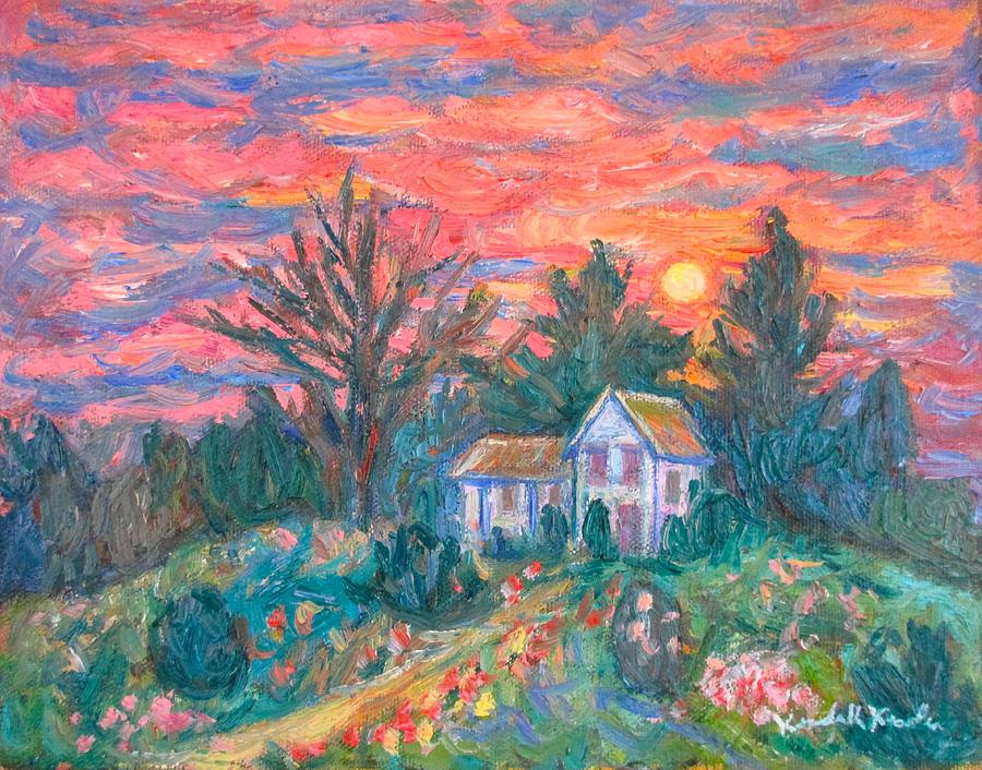 House Paintings Painting - Country Sunset by Kendall Kessler