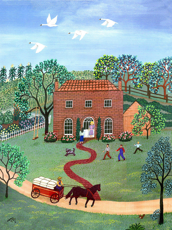 Landscape Painting - Country Visit by Linda Mears