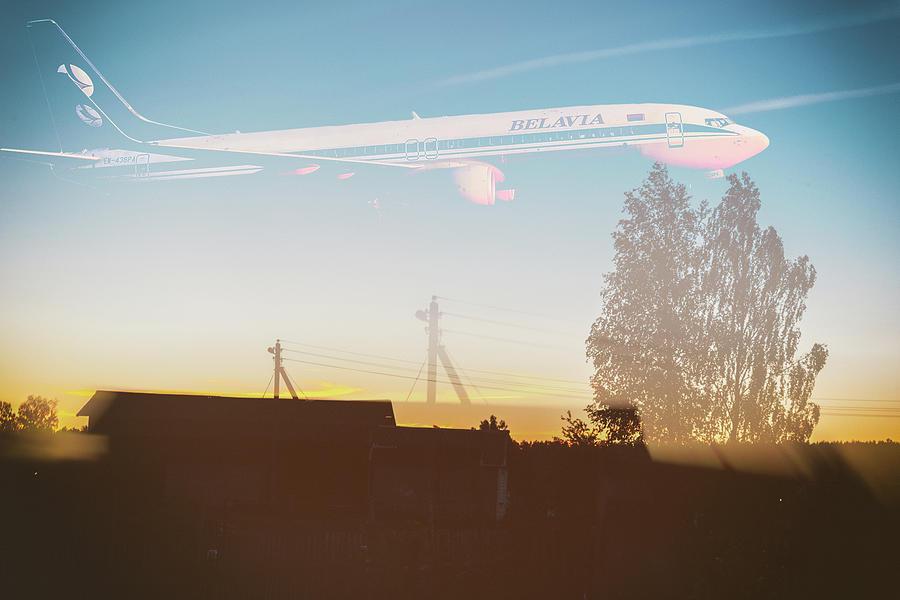 Boeing Digital Art - Countryside Boeing by Victor Grigoryev