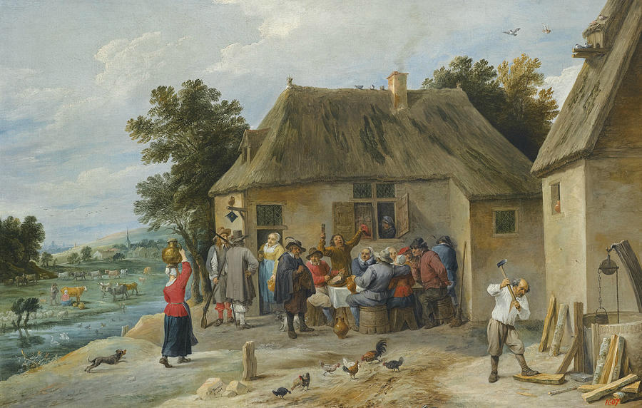 Flemish Painters Painting - Countryside Inn by David Teniers the Younger