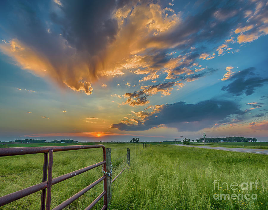 Sunset Photograph - Countryside Sunset by Ron Miles Jr