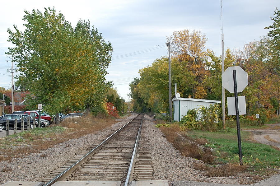 Landscape Photograph - Countryside Train Track  by Leslie Thabes