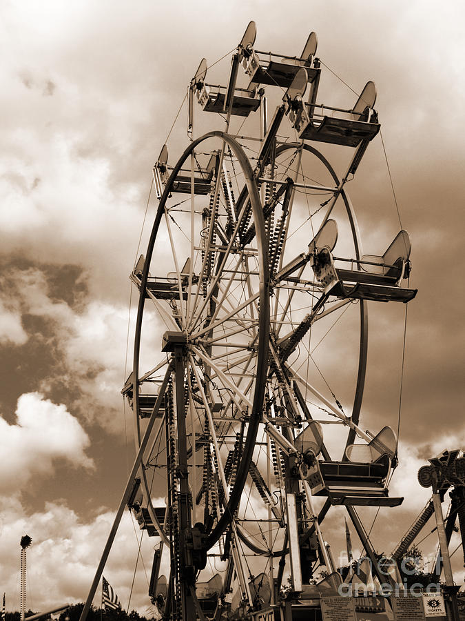 Ferris Wheel Photograph - County Fair by Kathy Jennings