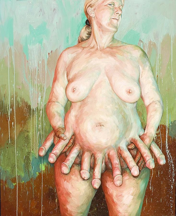 Nude Painting - Coup by Joyce Polance