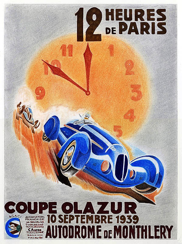 Automobile Drawing - Coupe Olazur by Lyle Brown