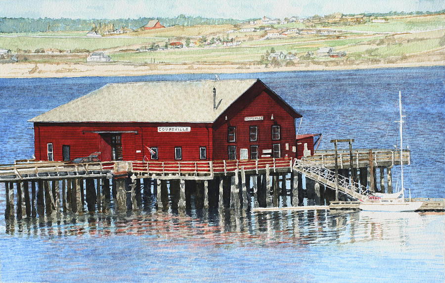 Wharf Painting - Coupeville Wharf by Perry Woodfin